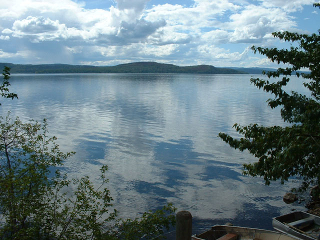 Peacefull lakeview over Francois Lake.